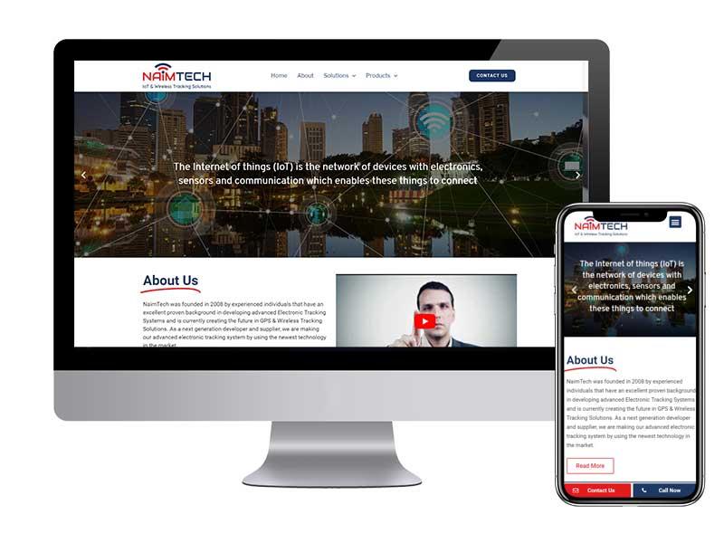 בניית אתר תדמיתי לחברת IOT