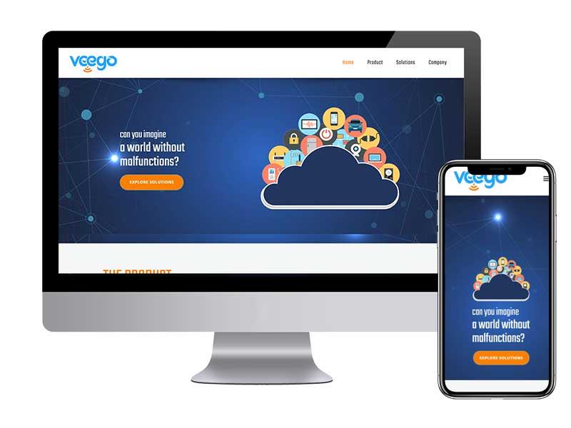בניית אתר אינטרנט תדמיתי לחברת Veego